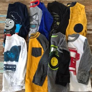 Toddler Boy 3T Long Sleeve Shirt Bundle